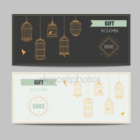 Gift certificate voucher coupon template hipster design Stock ...