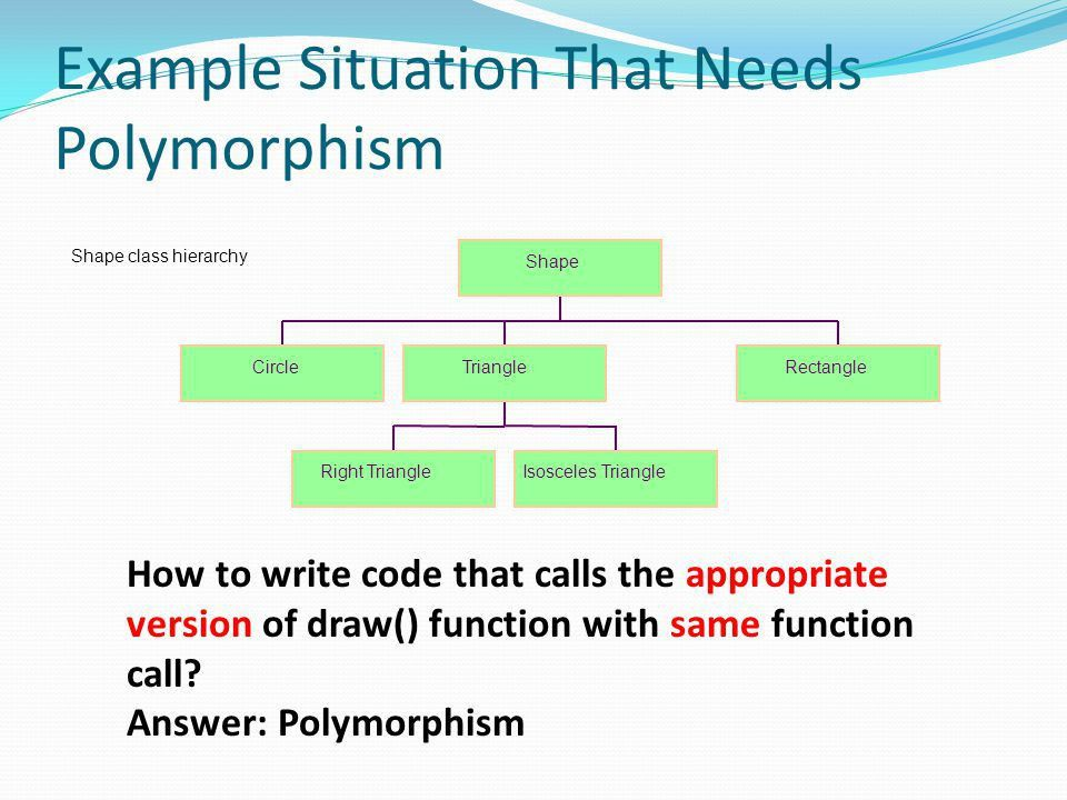 LECTURE 8. Polymorphism One interface, multiple methods C++ ...