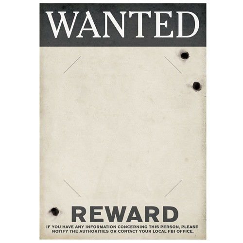 Gangster Wanted Sign make it into a from, then have person hold ...