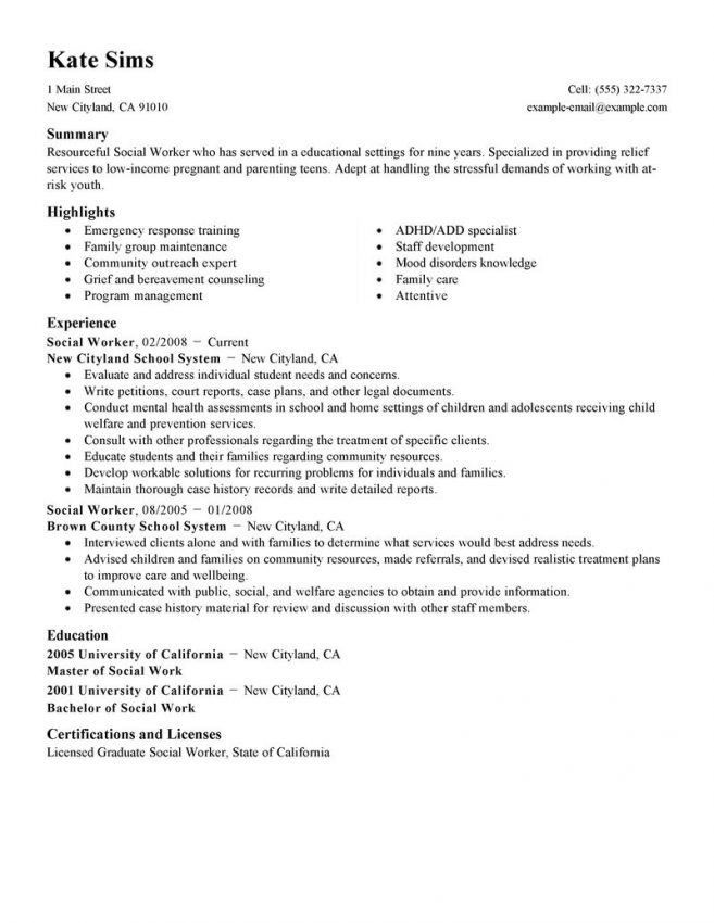msw resume sample social work resume sample writing guide resume