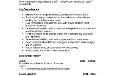 Forklift Technician Objective In Resume - Reentrycorps