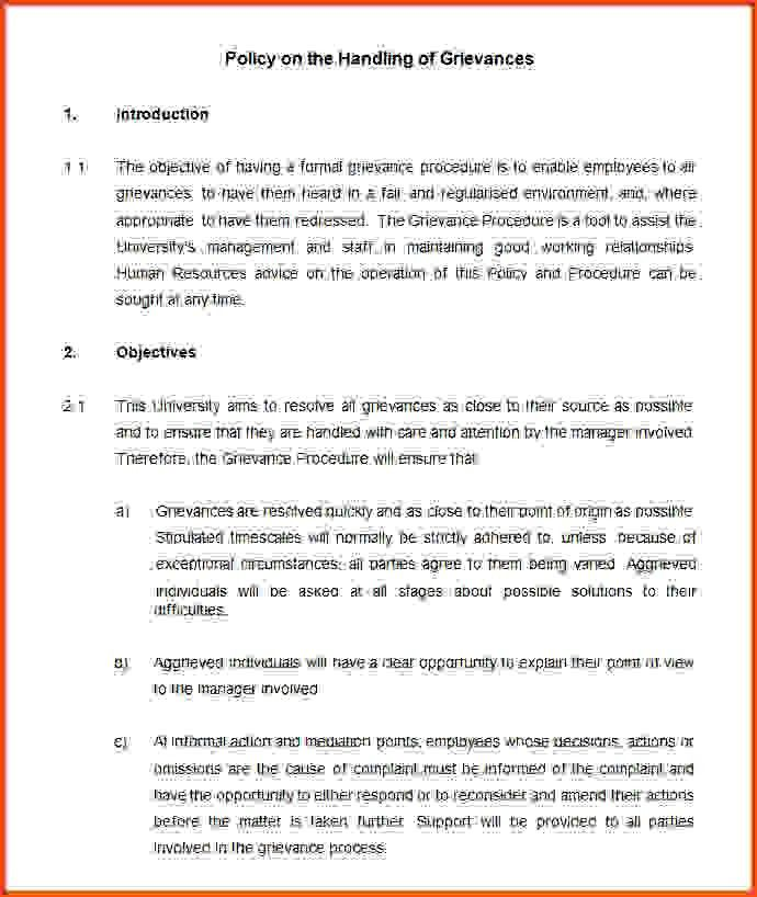 10 policy and procedure template | Sponsorship letter