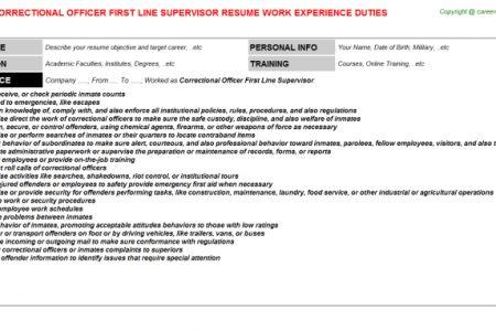 Correction Officer Resume] Officer Resume, Officer Resume Example ...