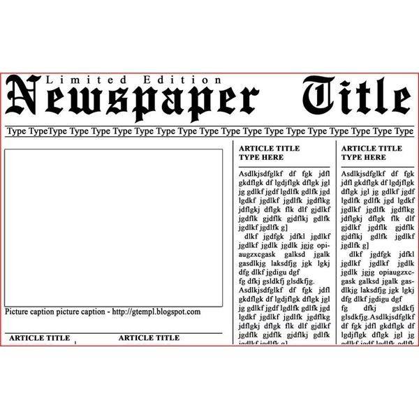 Microsoft Newspaper Templates. 17 microsoft word newspaper ...
