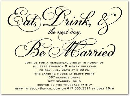 Rehearsal Dinner Invite Template | Best Template Collection