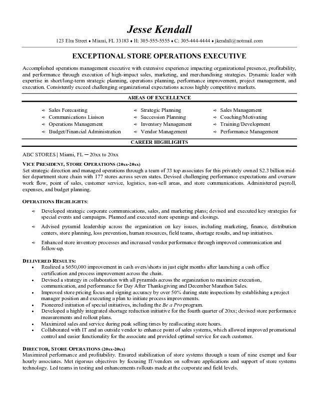 Resume Examples. 10 best detailed informed completed executive ...