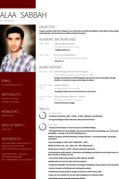 Engineer Resume samples - VisualCV resume samples database