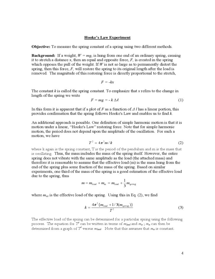 Sample Physics Lab Report Free Download