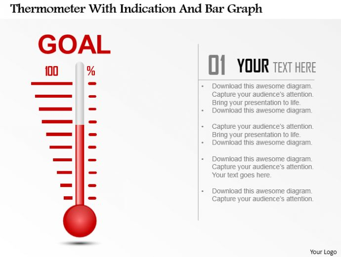 PowerPoint Tutorial #9- How to Create a Thermometer Diagram and ...