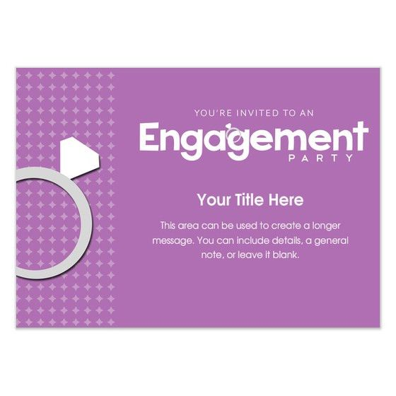 Pink Engagement Ring Party, Invitations & Cards on Pingg.com