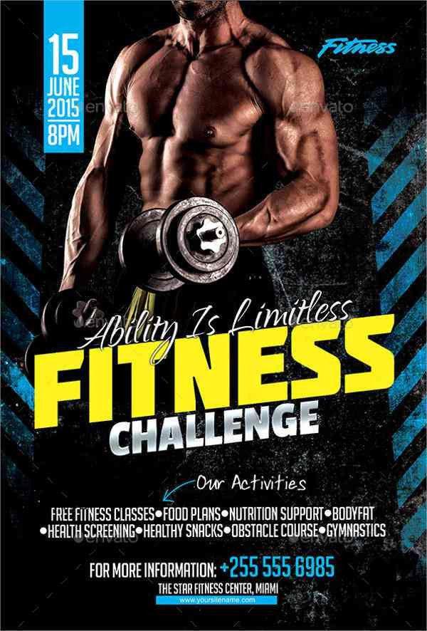 46+ Printable Fitness Flyers | Free & Premium Templates