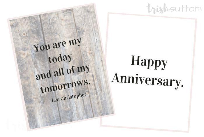 Happy Anniversary Three Printable Greeting Cards