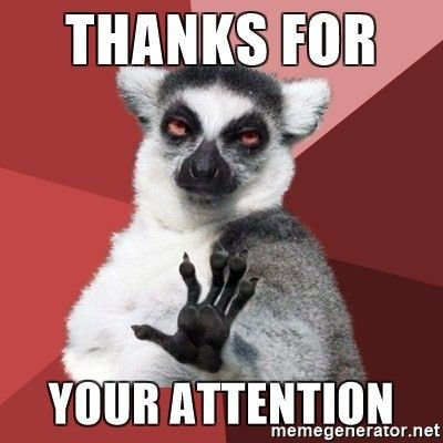 Thanks for Your attention - Chill Out Lemur | Meme Generator