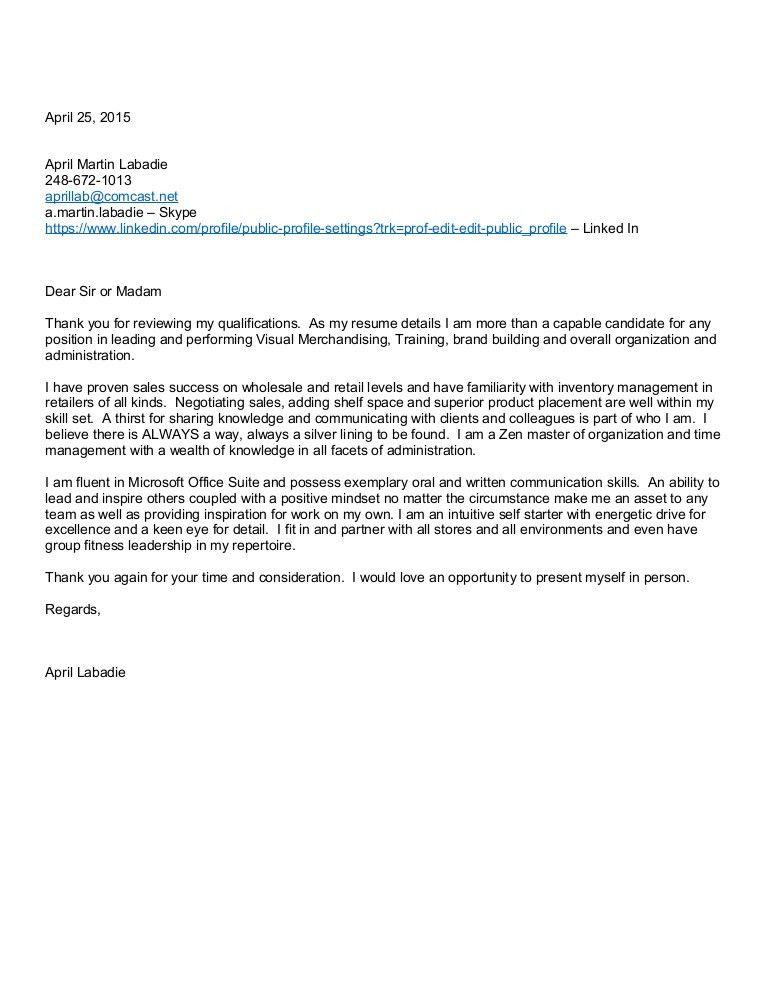 April M Labadie Cover Letter GENERAL VM 042515