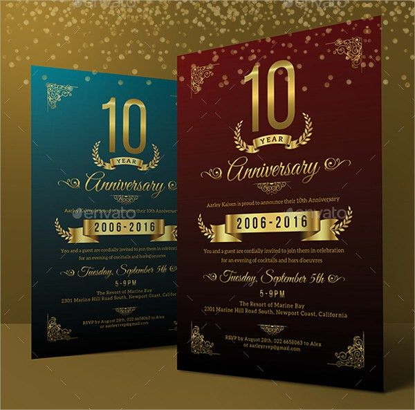 21+ Anniversary Invitation Templates - Free & Premium Download