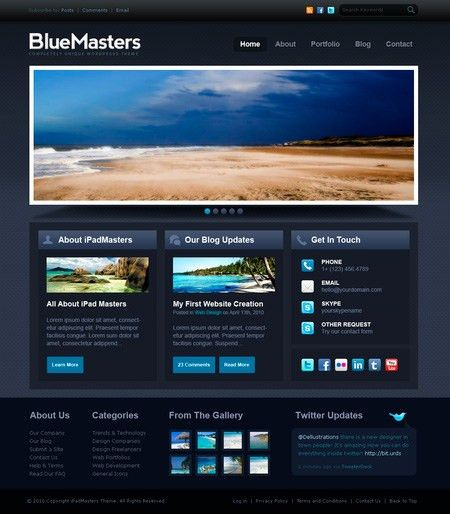 9 Free PSD Web Templates Perfect for Your PSD to HTML Training ...