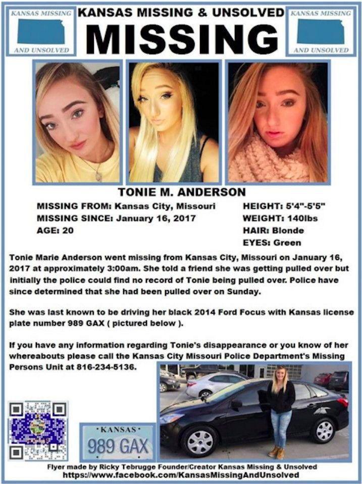 Toni Anderson Goes Missing In Kansas City After Mystery Text