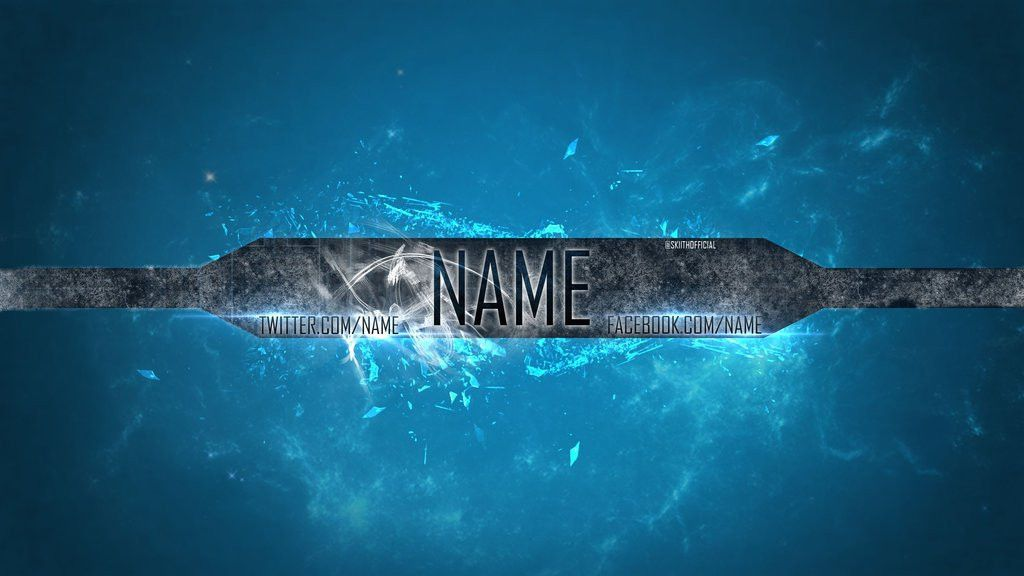 Channel Art Template #1 - Blue Space by SkiithOfficial on DeviantArt