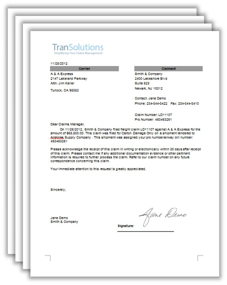 Freight Claim Letter Samples - 4 Freight Claim Letter Downloads