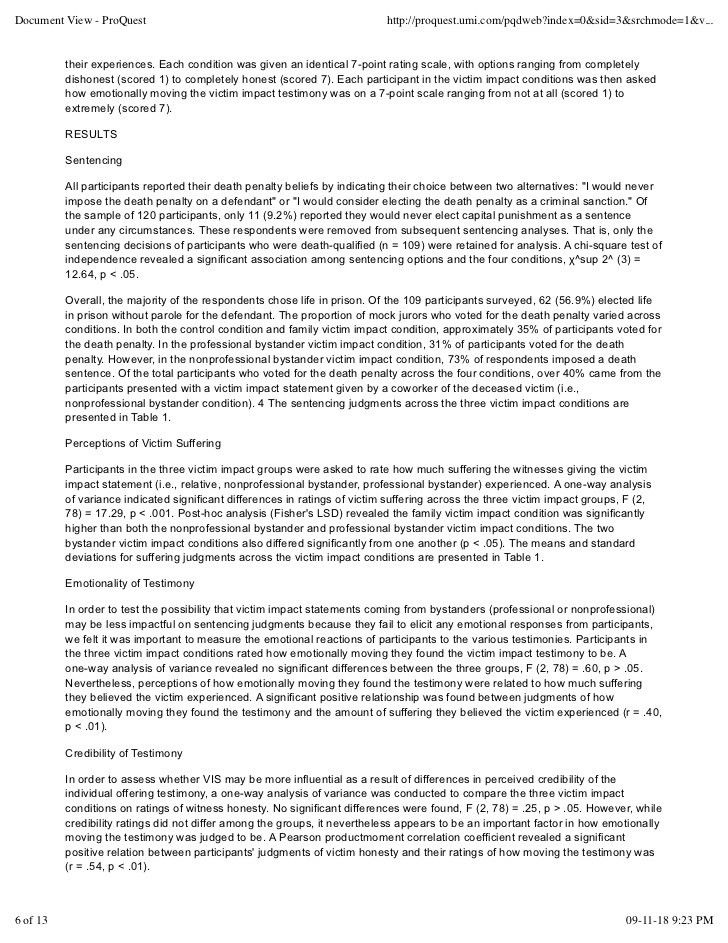 28+ [ Impact Statements Resume Sample ] | Doc 12751650 Victim ...
