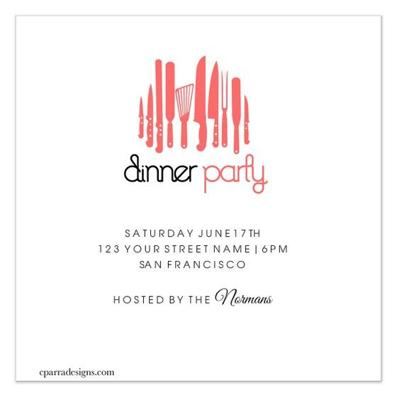 dinner party invitations templates