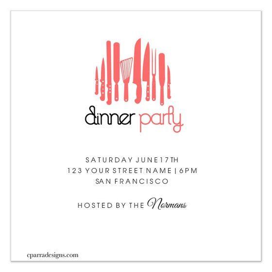 Dinner Party Invitations Templates | cimvitation