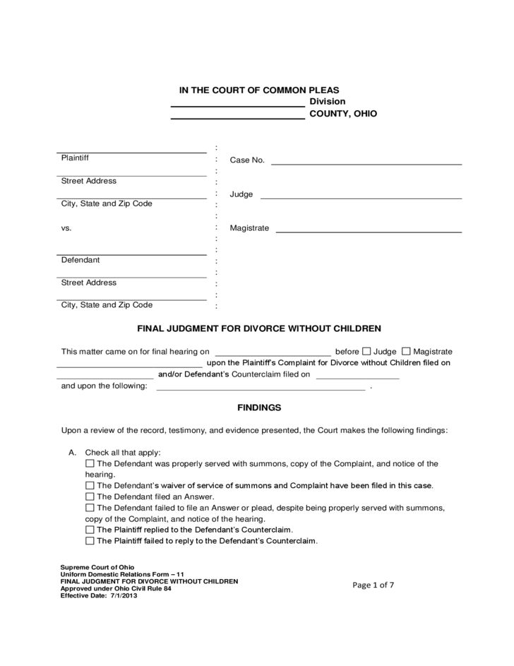 Free Divorce Forms Papers] Best 25 Divorce Forms Ideas On ...