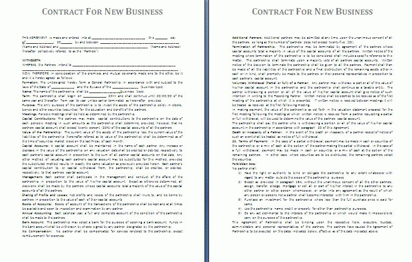 Business Contract Template | Free Contract Templates