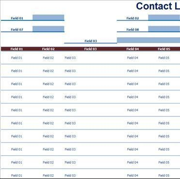 Contact List - Template