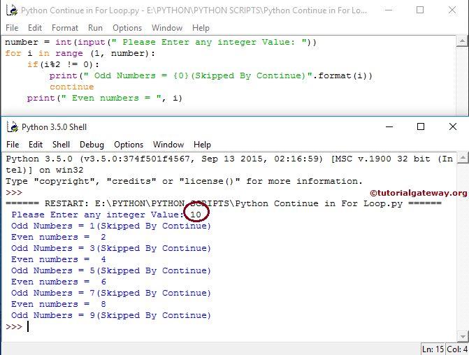 Python Continue Statement