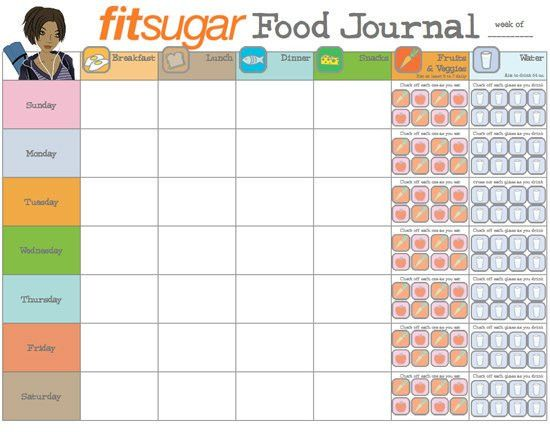 6 Food Journal Templates - Excel PDF Formats