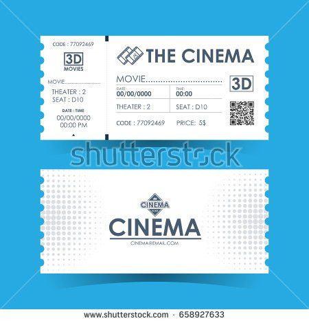 Cinema Movie Ticket Card Modern Element Stock Vector 370464536 ...