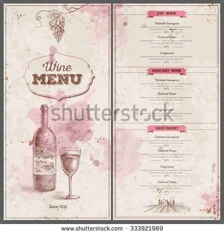 Wine Infographics Food Pairing Bottle Glass Stock Vector 311701079 ...