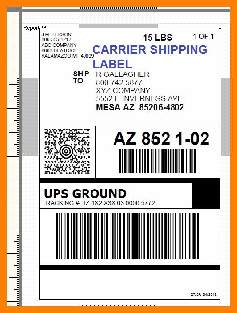 9+ package shipping label template | day care receipts