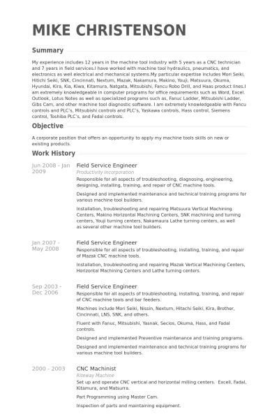 Impressive Field Service Engineer Resume Template Sample Featuring ...