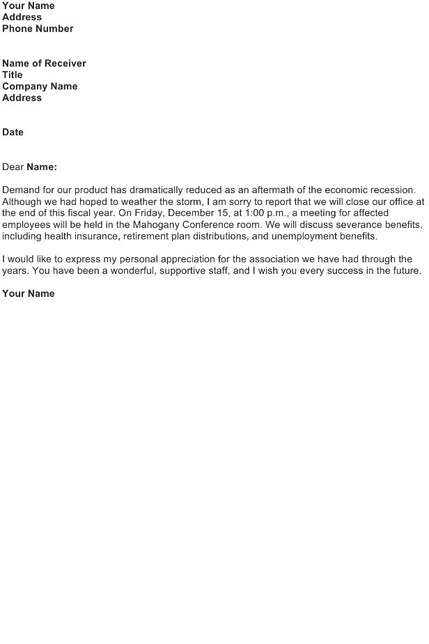 Announcement Letter Sample - Download FREE Business Letter ...