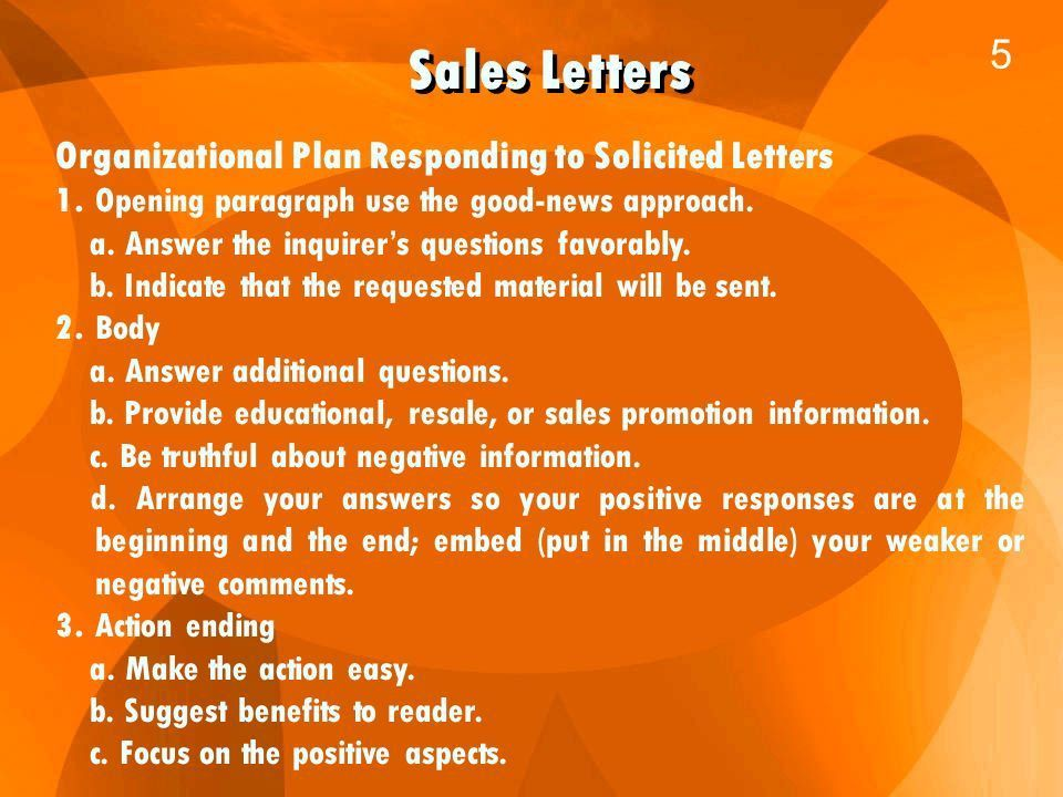 Business Communication 1. Sales Letters 2 There are two kinds of ...