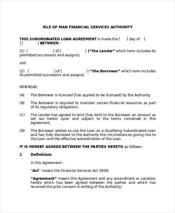 Loan Agreement - 10+ PDF, Word Documents Download | Free & Premium ...