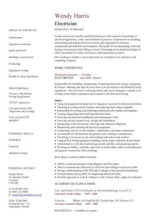 sample electrician resume top 8 high voltage electrician resume ...