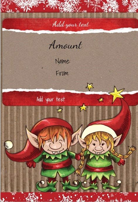 Christmas Gift Certificate Templates | Certificate Templates