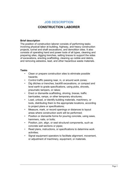 Janitor and Building Cleaner Job Description - Template & Sample ...