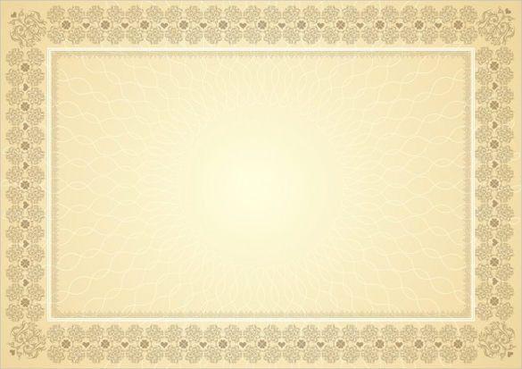 Blank Vintage Border Certificates | Blank Certificates