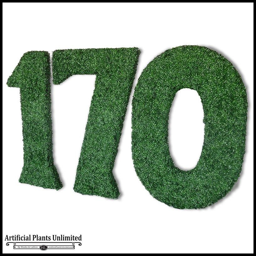 Go Green With Artificial Outdoor Living Wall Letters - Artificial ...