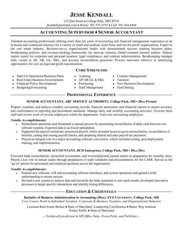 Sample Staff Accountant Resume | jennywashere.com