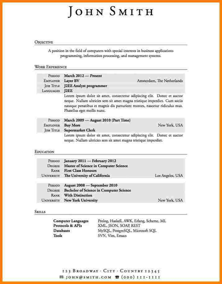 Examples Of High School Student Resumes. First Job Resume Examples ...