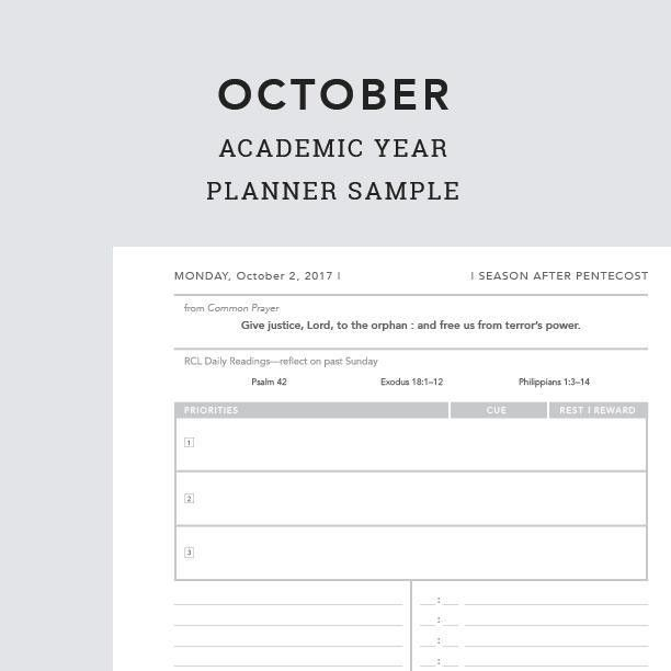 October 2017 Daily Planner Sample PDF – Sacred Ordinary Days