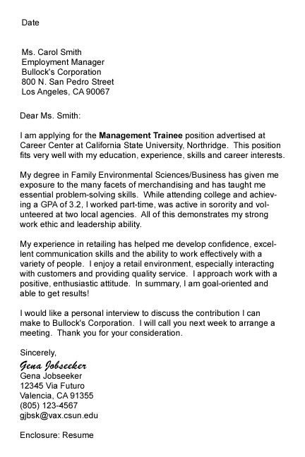 Follow Up Cover Letter