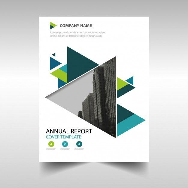 Green creative annual report book cover template Vector | Free ...