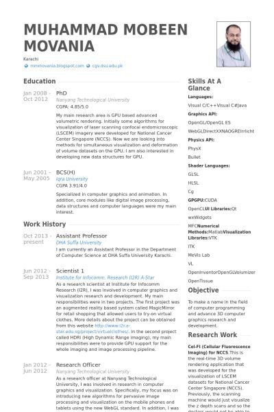 college instructor resume sample curriculum vitae college