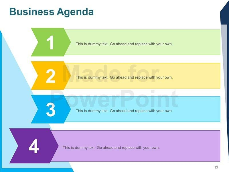 Business Agenda - Editable PowerPoint Template